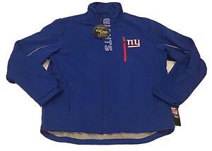 G-III NFL Brand New York Giants Blue Soft Shell Jacket Mens Large Big Blue