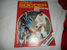 WORLD SOCCER MAGAZINE JUNE 1981 REAL MADRID v LIVERPOOL EUROPEAN CUP PREVIEW