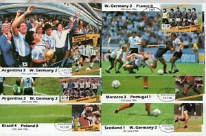 C/W = 1986 World Cup in Mexico. 54 different PHQ / Maxicards Have a look. (0006)