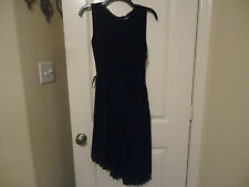 Simply Vera Wang Pleated Asymmetrical Shift Dress Black Size Medium