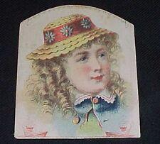 Vintage Advertising Card Perfume W. J. Austen Oswego N.Y. Baker & Clark Girl Hat