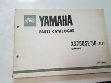 Yamaha XS 750 SE 1980 catalogo ricambi originale spare parts catalog