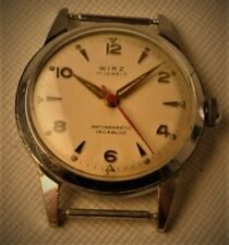 GENTS MILITARY SWISS WIRZ MEDICAL WATCH MANUAL WIND CHROMED CASE 32 MM