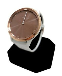 Garmin Vivomove HR Sport Smartwatch White Silicone Band Rose Gold BOX Sports NEW