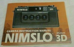 Nimslo 3D 35mm Camera Instruction MANUAL & Product Registration Card