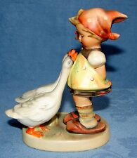 "VINTAGE GOEBEL HUMMEL #47 GOOSE GIRL ~ TMK#2 FULL BEE FIGURINE ~ 4 3/4"" GERMANY"