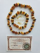 Purest Baltic Amber Bracelet and Necklace Set of Both for Teething. Raw Mixed.