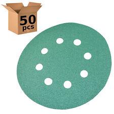 "50 HQRP 5"" 8-Hole 80-Grit Dustless Hook & Loop Sanding Discs Random Orbit Sander"