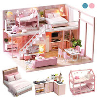 New Doll House Girls Kids Dream Play Playhouse Dollhouse Wooden Game Toy Gift