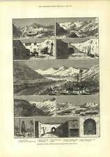 1882 Sketches In Tunis Dwellings Of Troglodytes