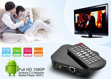 LETTORE MULTIMEDIALE FULL HD 1080p ANDROID 2.2 NETWORK MEDIA PLAYER WIFI DONGLE