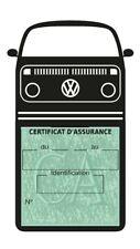 Porte assurance voiture Volkswagen Combi VW T2b étui adhésif Stickers auto rétro