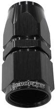 Aeroflow AF201-06DBLK Alloy Straight Hose End -6AN Black Swivel Nut Suit Tefl...