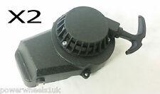 PU002X2 PACK OF 2 BLACK STANDARD PULL STARTS FOR 49CC MINI MOTO/DIRT/QUAD BIKE