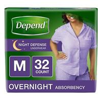 Night Defense Incontinence Overnight Underwear for Women, M, 32 Count