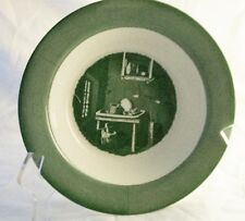 Royal USA Colonial Homestead Green Vegetable Bowls (3) 9 1/8""
