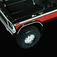 For Traxxas TRX4 Car Bronco Car Metal Wheel Arch Bumper Guard Decoration Strip