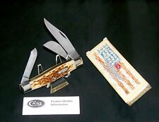 "Case XX 6375 Stockman's Knife Jigged Bone Handles 4-1/4"" W/Packaging, Papers USA"