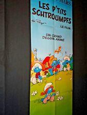 LES P'TITS SCHTROUMPFS ! affiche cinema peyo animation bd rare