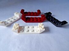 LEGO PART 22889 DARK RED BLACK AND WHITE 45. 6 x 2 INVERTED DOUBLE SLOPES