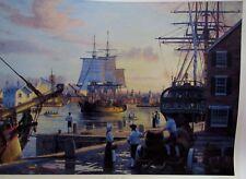 "RAMOND MASSEY ""COLUMBIA REDIVIVA "" LEAVING HANCOCK'S WHARF 1787 COA -55/250"