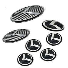 7pcs 3D Kia K5 OPTIMA CarbonFiber Emblem Badges Grille Trunk Steering Wheel caps