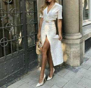 Zara Rustic Cut Out Dress Size MEDIUM BNWT