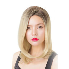 "Blonde Wig Straight Hair Shoulder-length Hair 19.6"" Heat Resistant Wig"