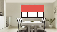 Made to Measure Blinds - Coral Red Pink Roller Blind