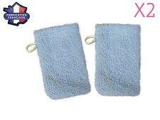 Lot de 2 petits gants de toilette d apprentissage pour bébé/enfant (Bleu) Fabri
