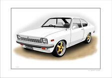 HOLDEN  TC  GEMINI  COUPE    LIMITED EDITION CAR PRINT   ( 7 CAR COLOURS )