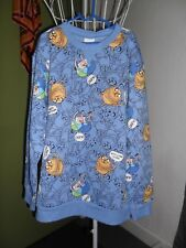 NEW Boys Size 12 Adventure Time Blue Windcheater Jumper With Tags