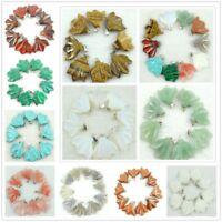 Beautifu NATURAL multicolor Leaves agate pendant necklace Gemstone Loose Beads