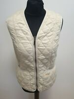 G476 WOMENS BARBOUR BETTY INTERACTIVE LINER BEIGE QUILTED GILET JACKET UK 10