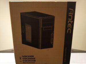 Antec VSK3000E Black SGCC Steel Micro ATX Mid Tower Case BRAND NEW