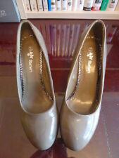 Sherbert Taupe Patent Shoes Size UK7 EU40 Brand New
