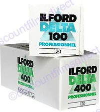 ILFORD DELTA 100 & 400 ROLL 2 FILM STARTER PACK B&W FILM -1st CLASS POST