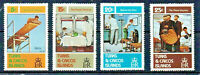 Norman Rockwell Set of 4 Famous Paintings on Mint NH Stamps Turks and Caicos CPL