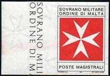 SMOM Malteser Orden 1975 Segnatasse Porto Kreuz Ungezähnt Non Dentellato ** MNH