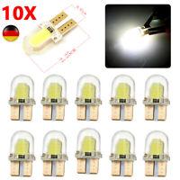 10x T10 CANBUS 194 168 501 LED COB 8 SMD Kennzeichenbeleuchtung Birne Lampe Weiß
