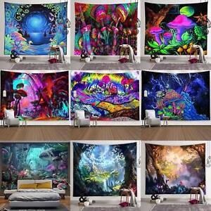Psychedelisch Tapisserie Wandbehang Gobelin Art Matte Tuch Wandteppich Wanddekor