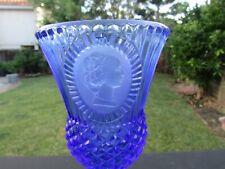 Avon Right Facing Martha Washington Cobalt Blue Long Stemmed Glass by Fostoria