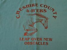 Vintage Cheshire County 4-H'ers Leap Over New Obstacles Horses T Shirt Size L