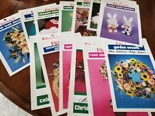 14 Sheets of Frank's Craft Ideas W/Instructions-Ex: Wreaths-Tote-Bunnies-Doll +