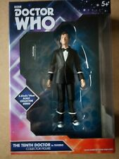 Doctor who  10th dr tuxedo  5.5 inch  figure collectable set + Sonic Screwdriver