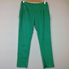 The Hanger Pants Women Medium Green Slim Stretch