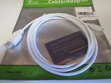 NEW Micro HDMI to HDMI Cable Rankie 6FT (White) - R1106A High-Speed Supports 3D