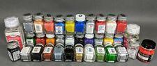 Testors ~ Model Paint Lot 32 Enamel Paints, Cement, Cleaner