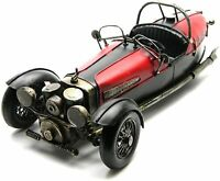 Large 3 Wheeled Morgan Style Car Ornament Hand Painted Tin Plate Model Sculpture