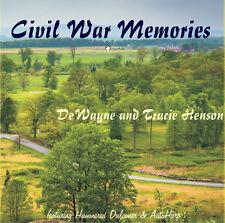 Civil War Memories DeWayne & Tracie Henson Hammered Dulcimer & Autoharp CD - NEW